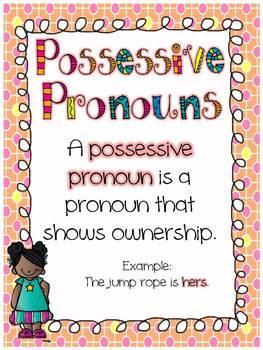 Parts of Speech....Possessive Pronouns