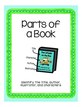 The Parts of a Book - Poster and Worksheet