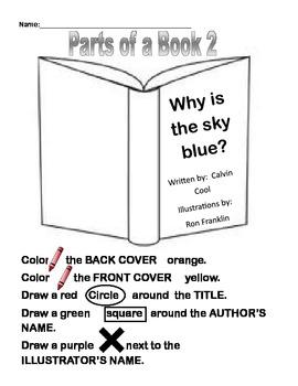 Parts of a Book Activity version 2