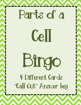 Parts of a Cell Bingo