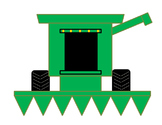 Parts of a Farm Combine Harvester Cut and Paste Craft Activity
