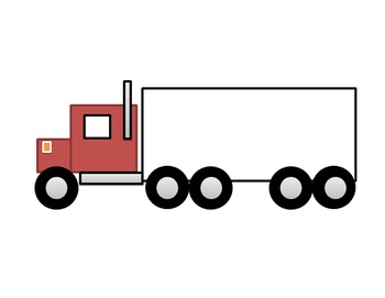 Parts of a Farm Semi Truck Cut and Paste Craft Activity
