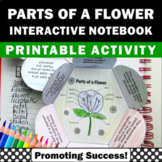Parts of a Flower Diagram Interactive Notebook Activity Sc