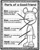 Parts of a Good Friend Poster Set