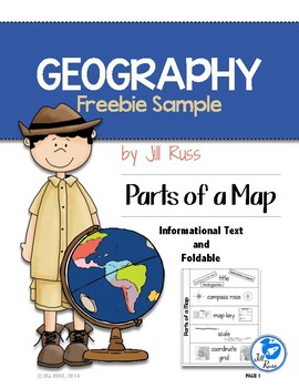 Parts of a Map Geography Map Skills Freebie Sample