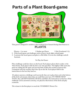 Parts of a Plant Board-Game