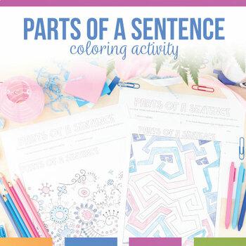Parts of a Sentence Coloring Sheet