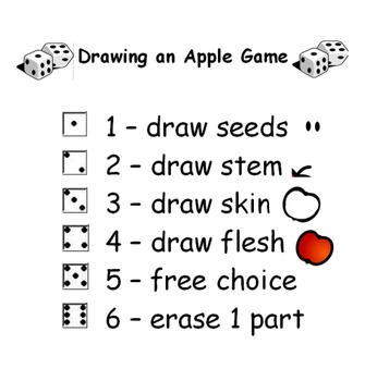 Parts of an Apple  Dice Game