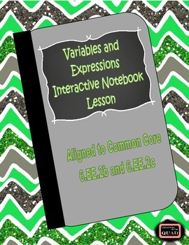 Parts of an Expression Interactive Notebook Lesson {6.EE.2