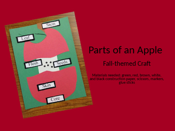 Parts of an apple craft