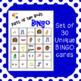 Parts of the Body Bingo Boards for ESL/ESOL/ELL/EFL, Speec
