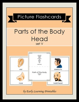Parts of the Body-Head (set V) Picture Flashcards
