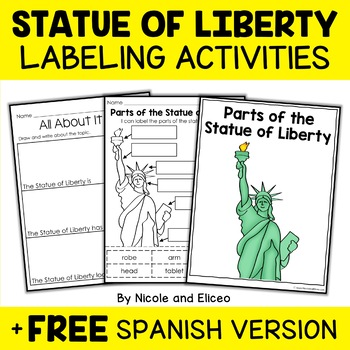 Parts of the Statue of Liberty Activity