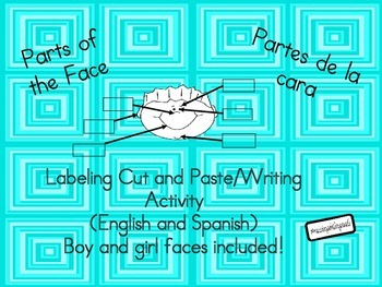 Parts of the face/Partes de la cara (bilingual) cut and paste