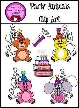Clip Art Party Animals