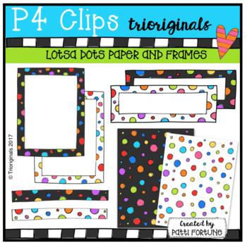 {50% OFF}LOTSA DOTS Paper and Frames {P4 Clips Trioriginal