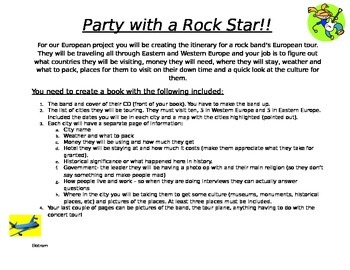 Party Like A Rock Star (geography project)
