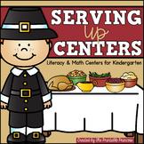 Thanksgiving Kindergarten Literacy & Math Centers