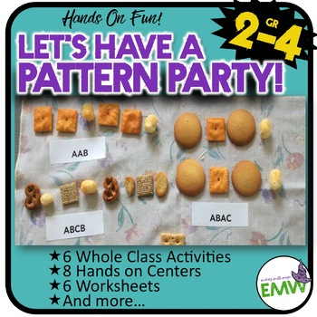 Number Pattern Math Activities, Centers, and Worksheets -