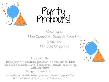 Party Pronouns