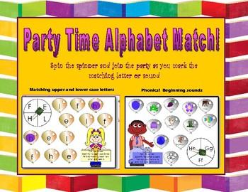 Party Time Alphabet Match