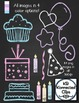 Party Time Chalkboard Embellishments and Frames