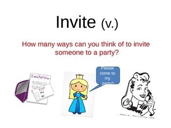 Party Vocabulary Ppt