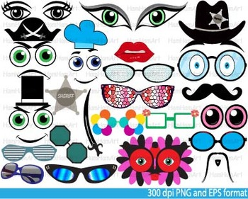 Party accessories, Booth Props Clip Art school kid birthda