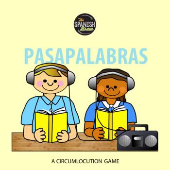 Realidades Spanish 2 vocab 4A 4B bundle circumlocution gam