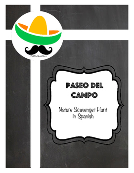 Paseo de Campo- Nature Scavenger Hunt in Spanish