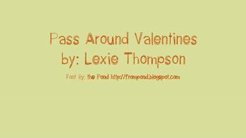 Pass Around Valentines -FREE