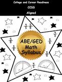 2014 ABE/GED Math Syllabus
