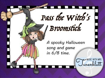 Pass The Witch's Broomstick - Halloween song and game