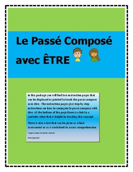 French Passe Compose avec Etre -learning how to conjugate