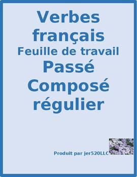 Passé Composé regular French verbs worksheet 5