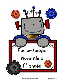 Passe-temps: Novembre - 1re année