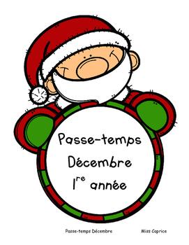 Passe-temps de Noël - 1re année
