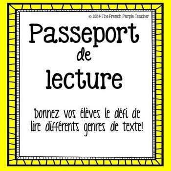 Passeport de lecture : Le défi de lire