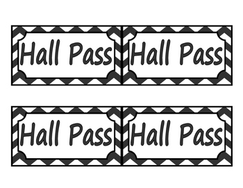 Passes (Bathroom/Office/Hall)