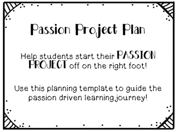 Passion Project Plan