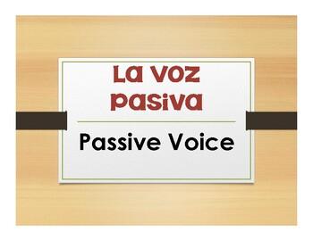 Spanish Passive Voice Notes