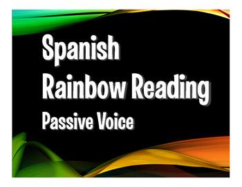 Spanish Passive Voice Rainbow Reading