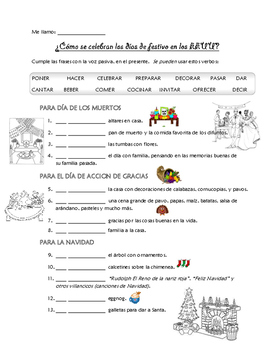 Passive Voice worksheet: writing about holidays