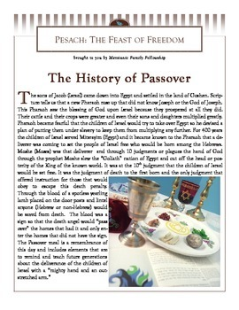 Passover Pesach Learning Booklet