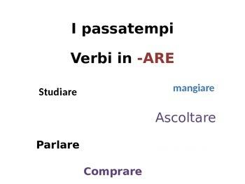 Passtimes- ARE verbs