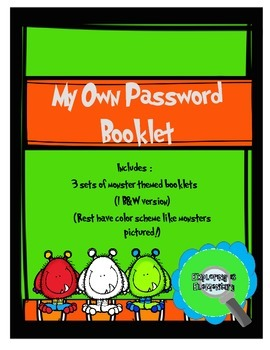 Password Booklets