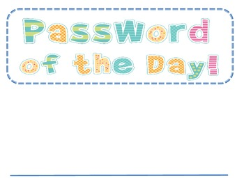 Password of the Day