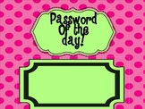Password of the Day-Sight word practice