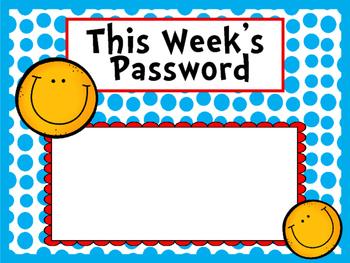 Password of the week