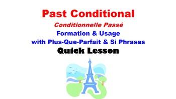 Past Conditional (Conditionnelle Passé) Formation, Usage w